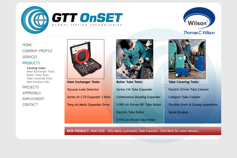 GTT OnSET - Products Index