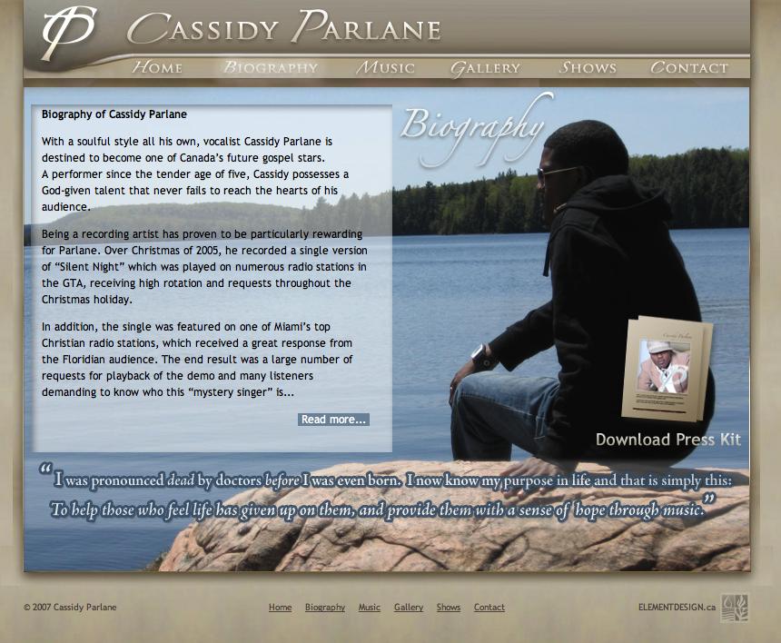 Cassidy Parlane Gospel Singer Website by Mason Ad http://cassidyparlane.com