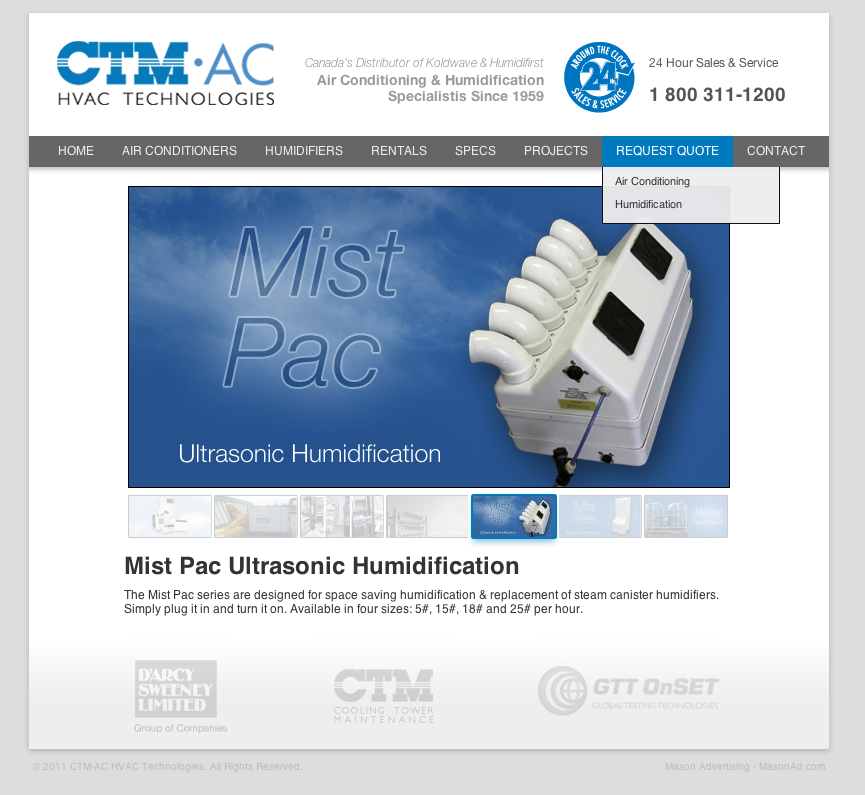 CTM HVAC Website - http://ctm-ac.com