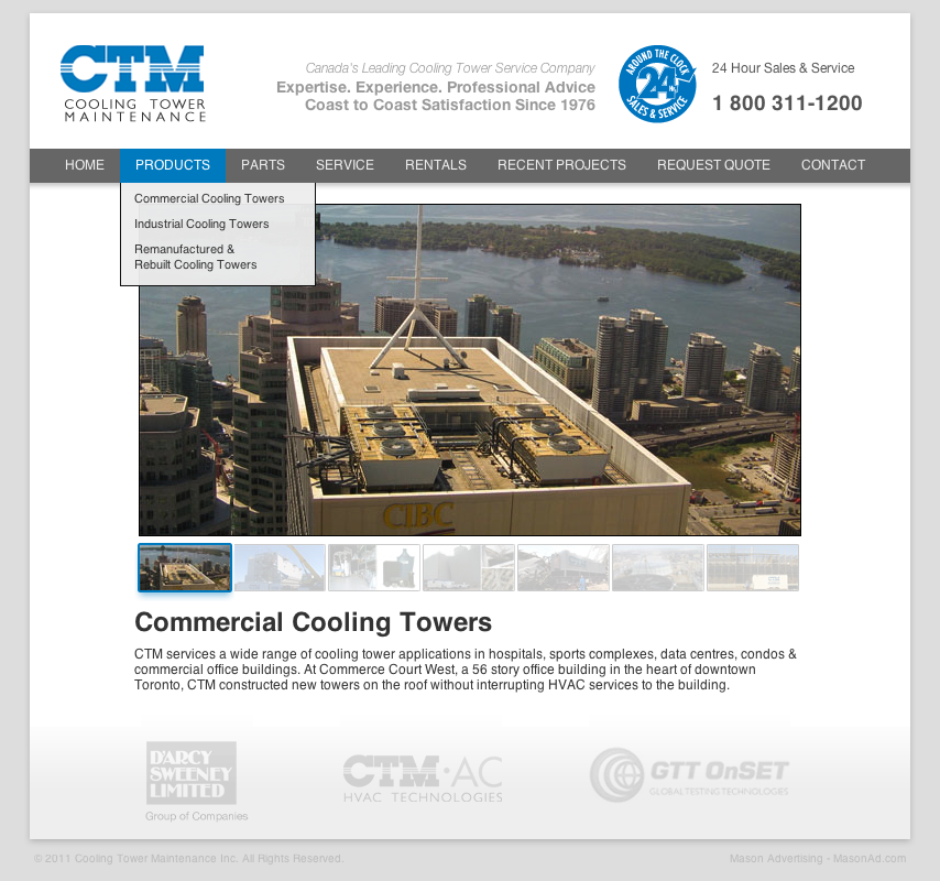 CTM Cooling Tower Maintenance Website