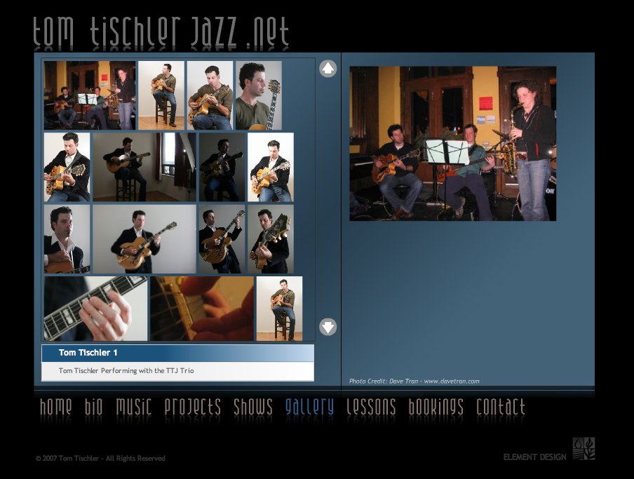 Tom Tischler Jazz Guitarist Website by Mason Ad http://tomtischlerjazz.com