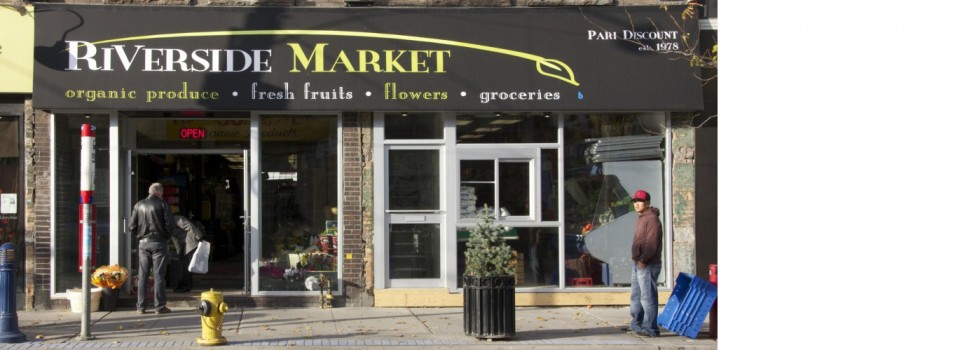Riverside Market Logo and Awning Design