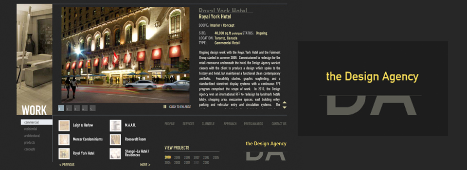 The Design Agency Website